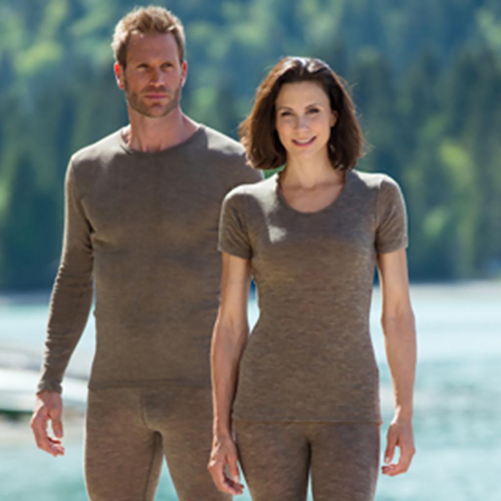 Engel - Women's Thermal Tee Shirt for Layering, 70% Organic Merino Wool 30% Silk