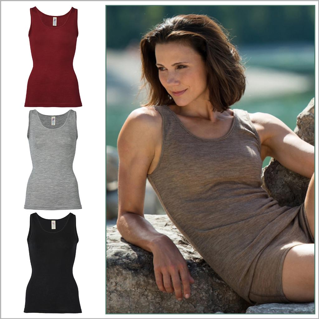Engel - Women's Thermal Base Layer Top Lightweight Moisture Wicking Merino Wool Silk Sleeveless Undershirt