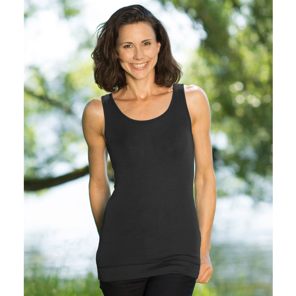 Women's Thermal Hip Length Top, 70% Organic Merino Wool 30% Silk