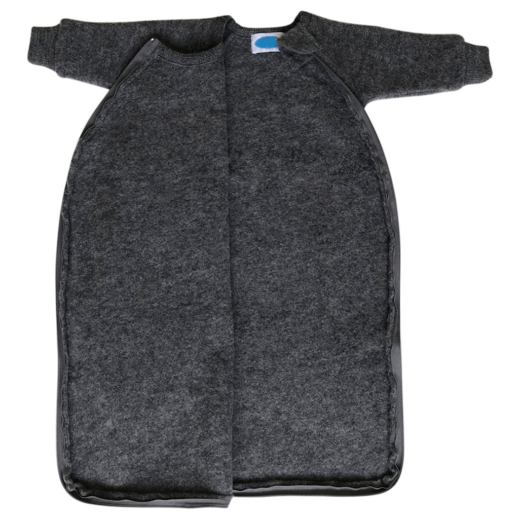 Baby Toddler Winter Wearable Blanket with Sleeves, 100% Organic Merino Wool Fleece, Sizes NB – 4T