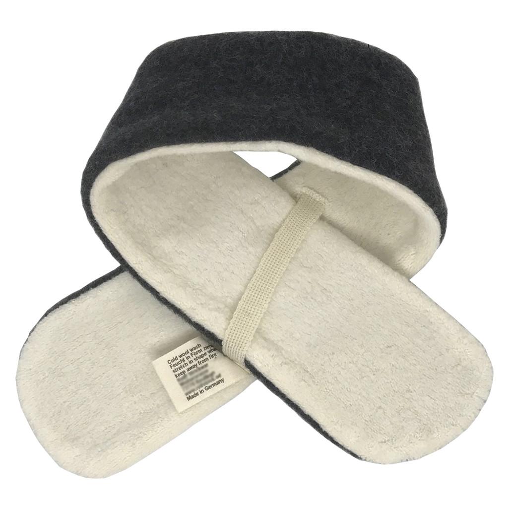 Reiff -Kids Winter Neck Scarf, Organic Merino Wool and Cotton Sherpa, Size 1 to 6 years