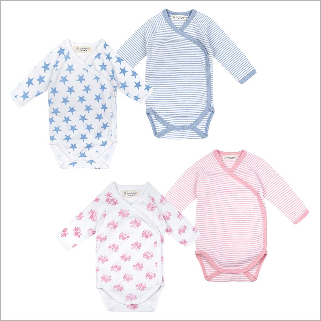 Sense Organics - Side Snap Baby Onesie Bodysuit with Long Sleeves