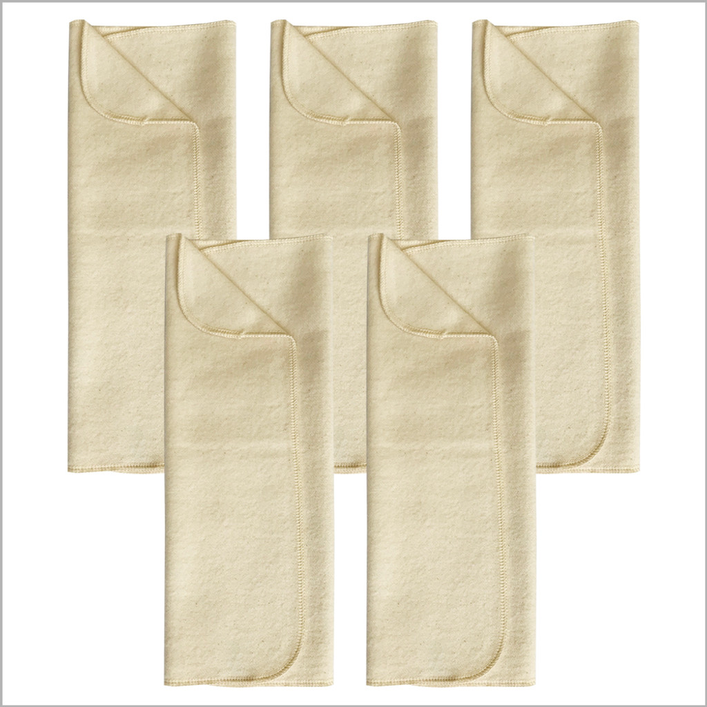 DISANA - Diaper Booster Pads for Baby and Toddler, 100% Organic Brushed Cotton