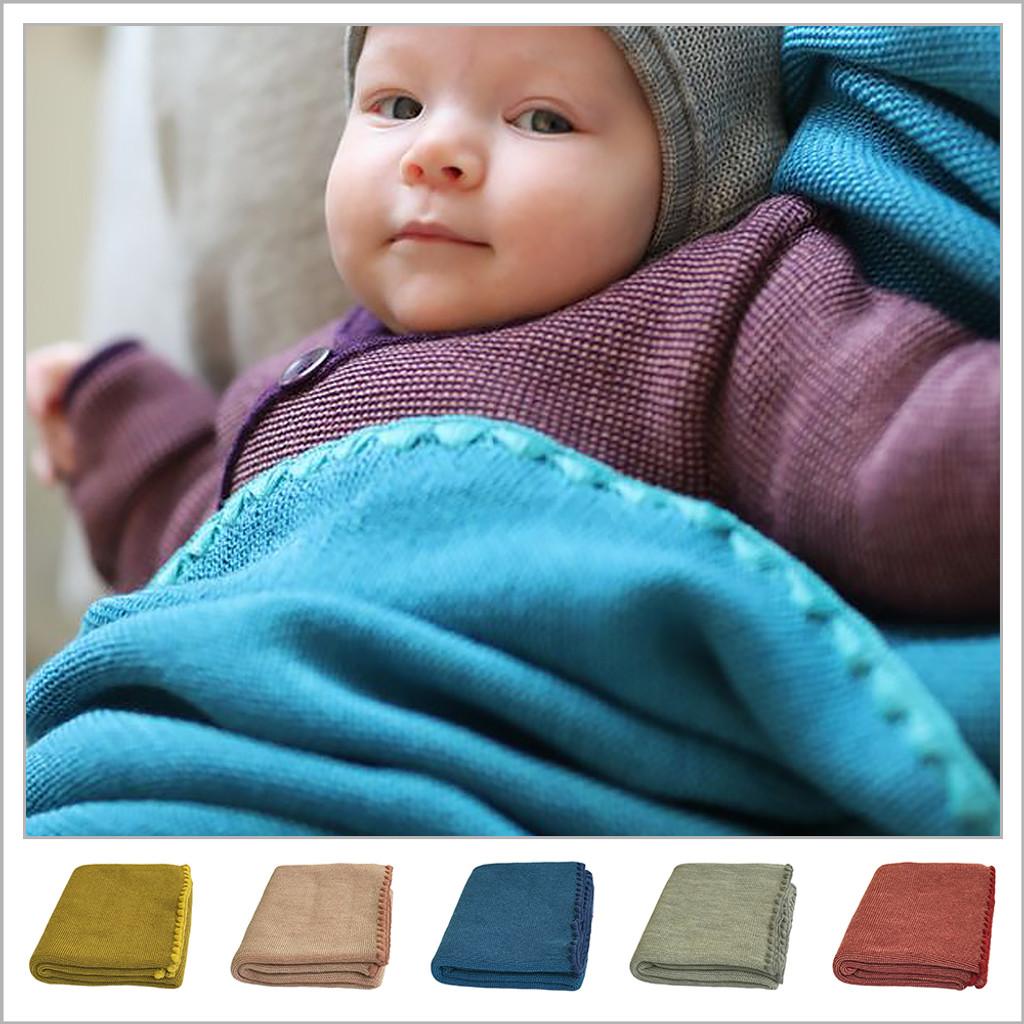 Disana - Baby Warm Blanket, Washable Merino Wool Receiving Thermal Blanket, 31x40 inches