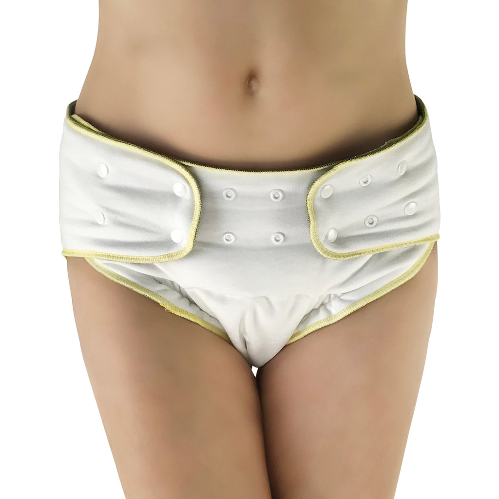 EcoAble - Adult Fitted Cloth Diaper: Washable Incontinence Special Needs Diaper for Women, Men and Big Kids