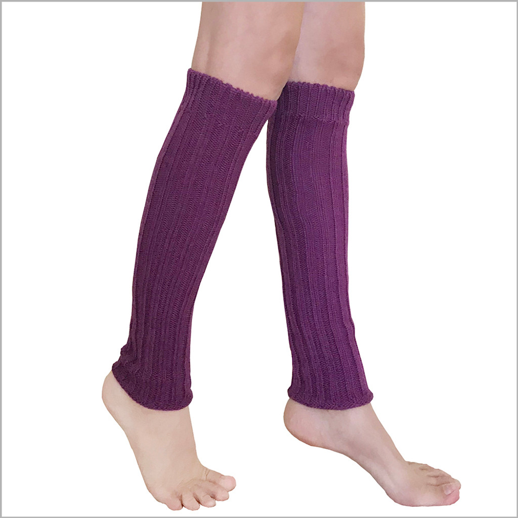 Hirsch Natur - Thermal Leg Warmers: Pure Organic Virgin Wool, Knee High Leg Warmers for Women