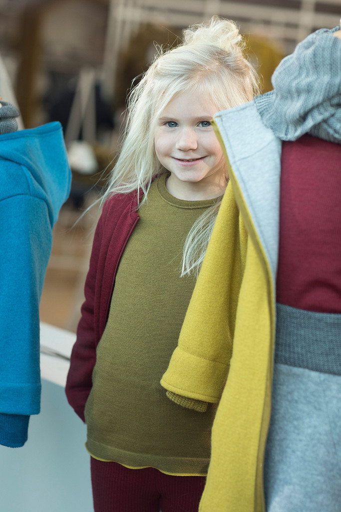 Disana Merino Wool Long Sleeve Pullover for Boys and Girls