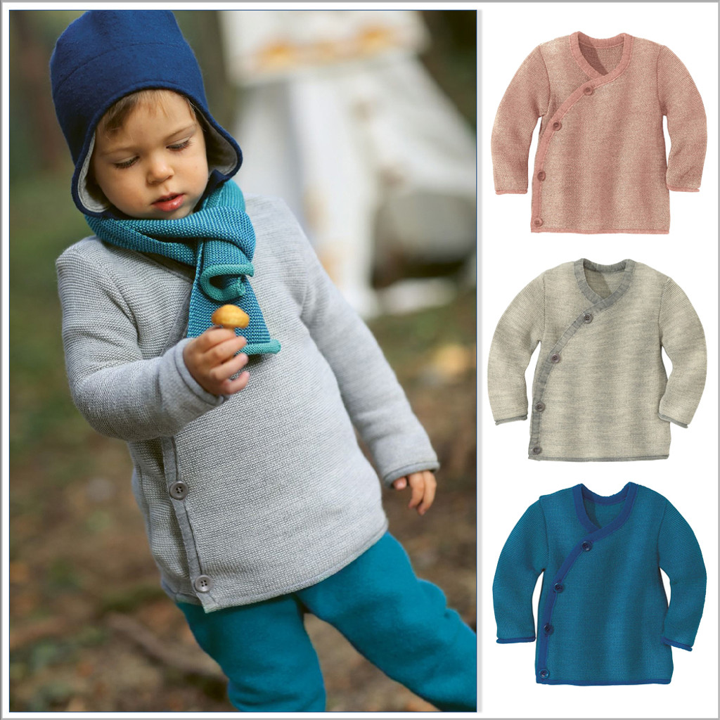 Disana Merino Wool Baby Cardigan Sweater