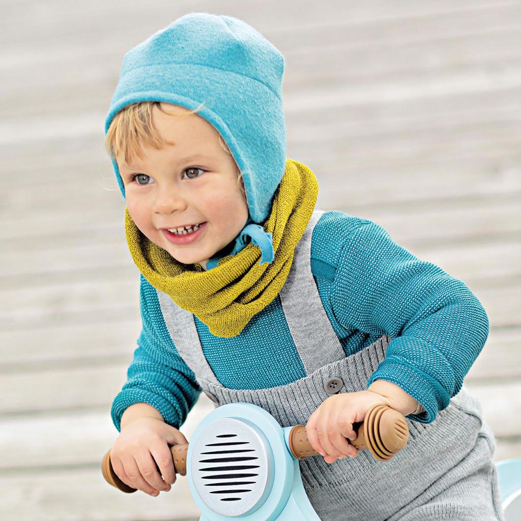 DISANA - Kids Winter Hat, 100% Organic Boiled Merino Wool, Sizes 4 Months – 3 Years