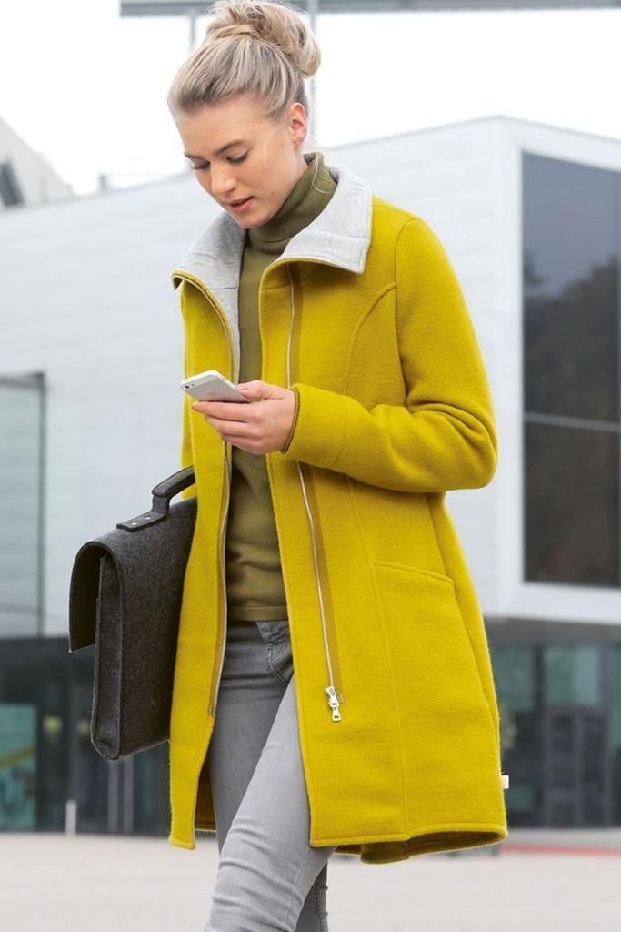 DISANA Women's Boiled Merino Wool Coat