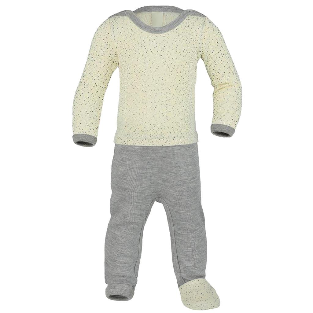ENGEL - Baby Overall Romper Pajama with Feet, Organic 70% Wool and 30% Silk, Newborn - 2 Years