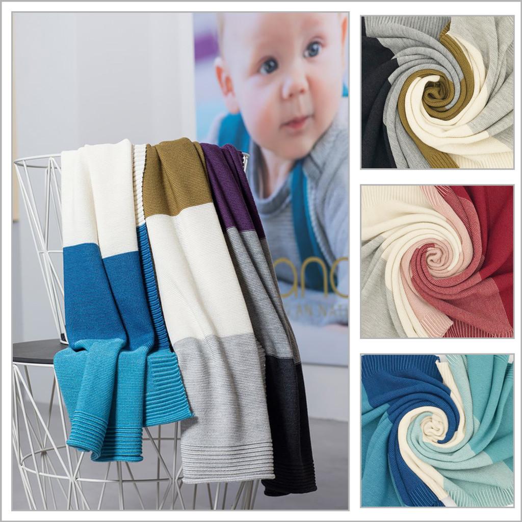 DISANA - Baby Warm Blanket, Washable 100% Merino Wool Receiving Thermal Blanket