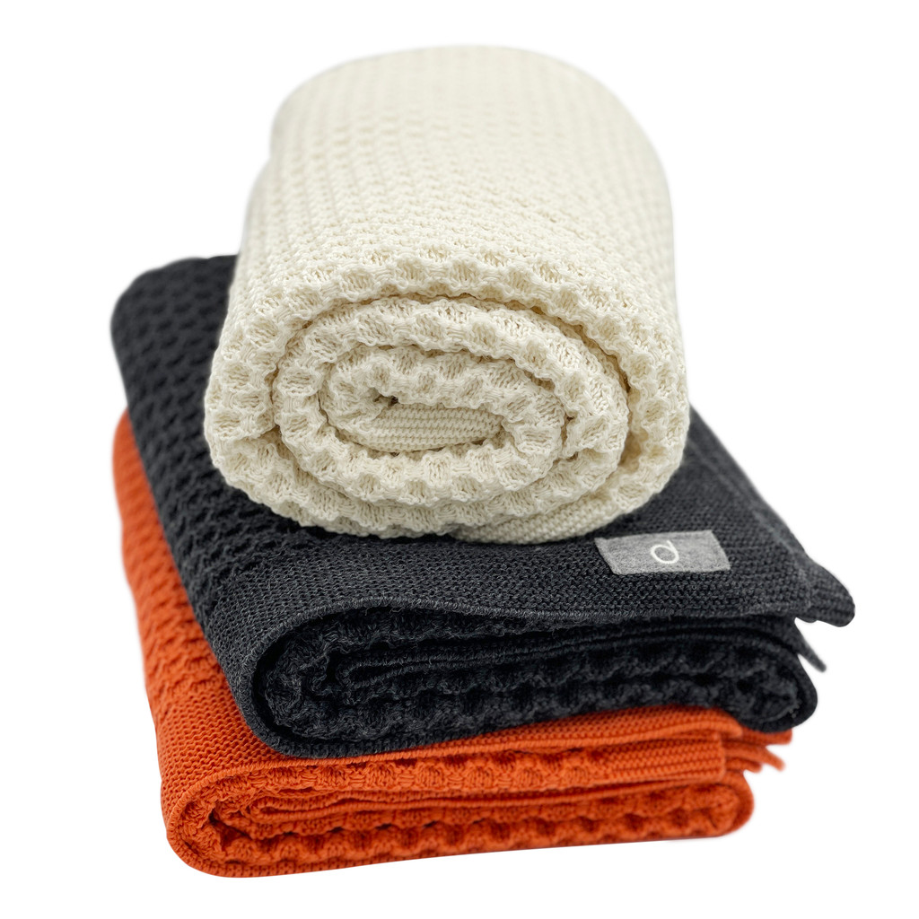 DISANA - Baby Thermal Receiving Blanket, 100% Merino Wool, 31x40 inches