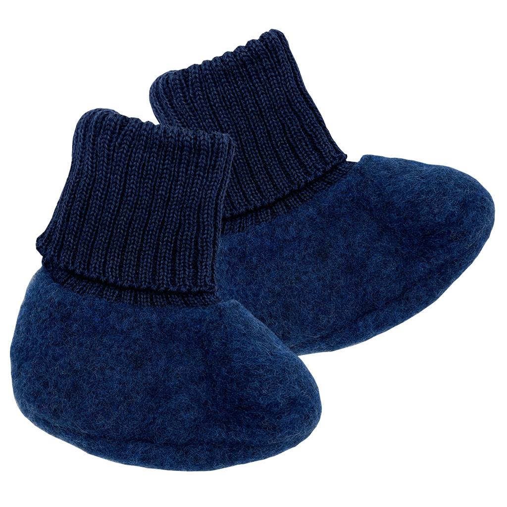 REIFF - 100% Organic Merino Wool Fleece Newborn Baby Socks Booties, 0-12 months