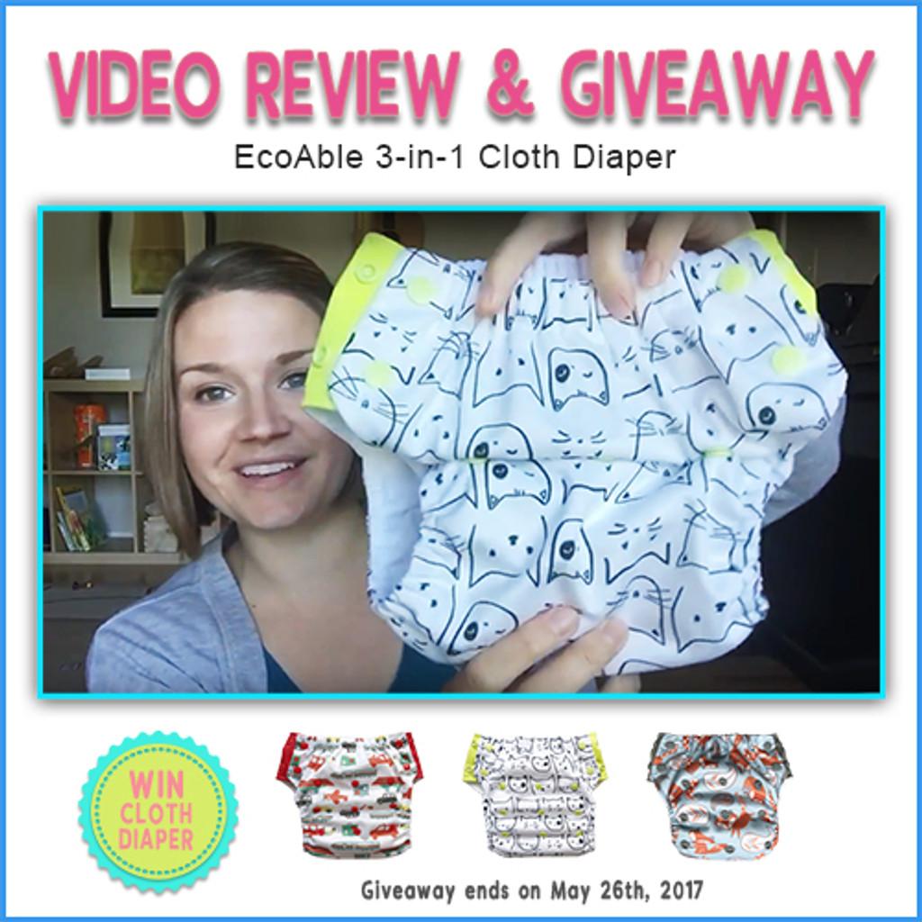 Video Review Ecoable  Cloth Diaper By Ellen V S