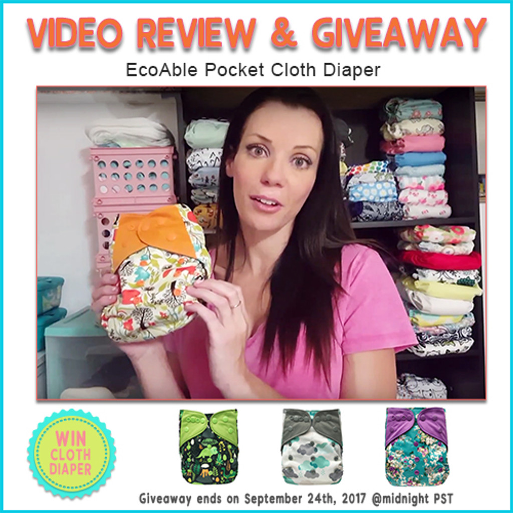 Video Review Ecoable Pocket Cloth Diaper By Jess Is Blessed