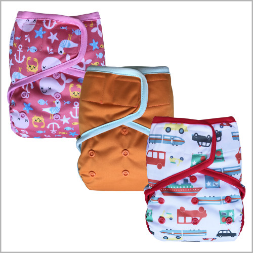 Ecoable - Waterproof PUL Cloth Diaper Cover, Hook & Loop