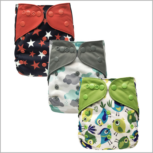 Ecoable - One Size Pocket Cloth Diaper with Inserts