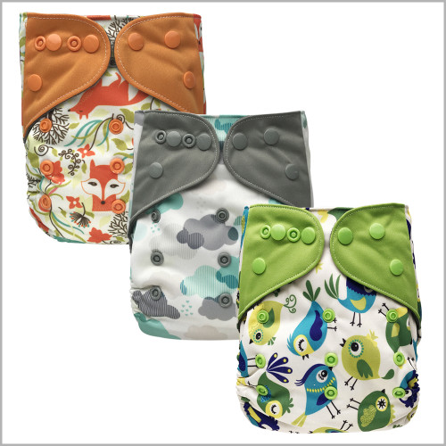 Ecoable - All-in-one Cloth Diaper with Extra Insert, Snaps