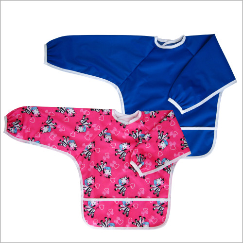 Baby Long Sleeve Bib for Feeding and Baby Led Weaning, Small 6-24 Months