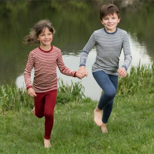 Engel - Kids Leggings Pants Base Layer, 100% Organic Wool, 2-13 Years