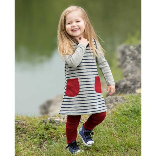 Engel - Little Girls Jumper Dress Tunic, 100% Organic Wool Terry, 3 Months - 6 Years