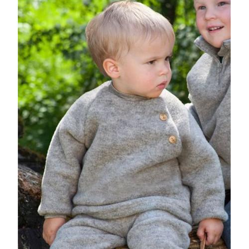 Engel - Baby Ultra Warm Raglan Sweater, 100% Organic Wool Fleece, 0-24 Months