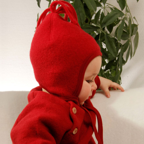 Engel - Baby Ultra Warm Hat with Chin Ties, 100% Organic Wool Fleece, 6-24 Months