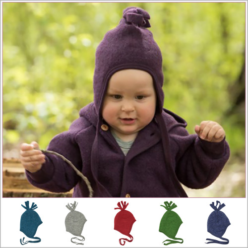 Engel - Baby Winter Hat with Ties, Toddler Infant Ear Protection Hat 6-24 months, 100% Organic Merino Wool Fleece