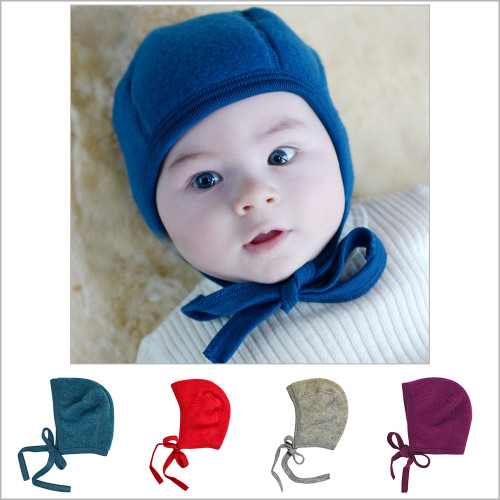 Engel - Newborn Baby Bonnet: Infant Ear Protection Hat Pilot Cap, 0-6 months, Organic Merino Wool Fleece