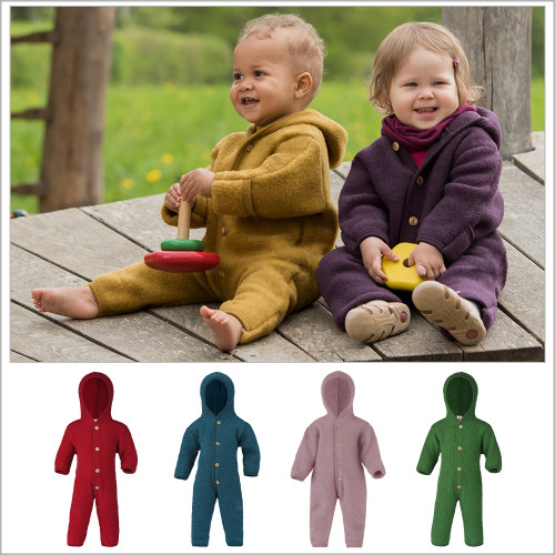 ENGEL - Baby Coverall Romper Snowsuit, 100% Organic Wool Fleece, 0-24 Months