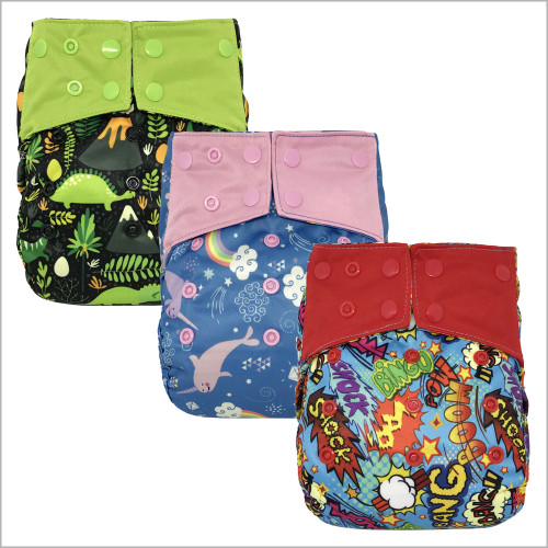 Baby Heavy Duty Diaper Cover with Leg Gussets