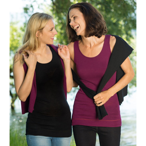 Engel - Women's Thermal Hip Length Top, 70% Organic Merino Wool 30% Silk