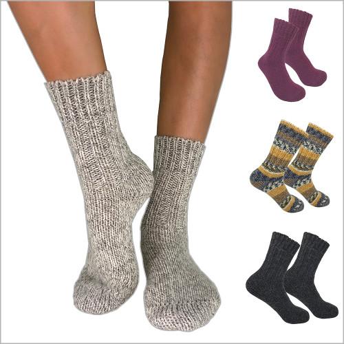 Hirsch Natur - 100% Organic Virgin Wool Thick Socks, Sizes 6-11.5 for Men and Women