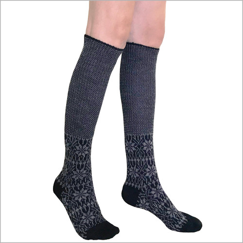 Hirsch Natur - 100% Organic Virgin Wool Knee High Socks for Women