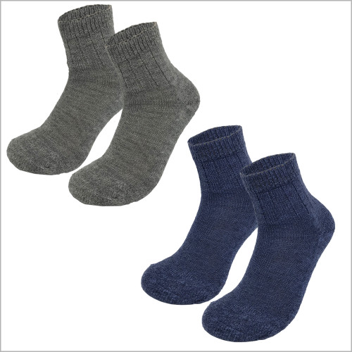 Hirsch Natur - 100% Organic Virgin Wool Ankle Socks, Sizes 6-11.5 for Men and Women (3 pairs)