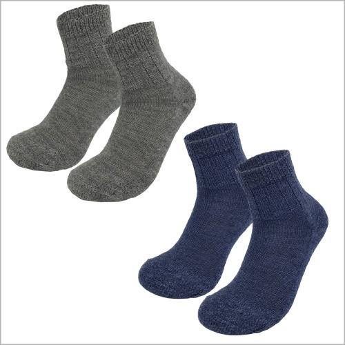 Hirsch Natur - 100% Organic Virgin Wool Ankle Socks, Sizes 6-11.5 for Men and Women