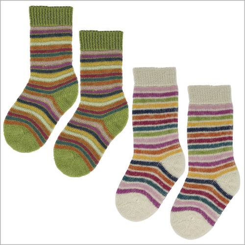 Hirsch Natur - 100% Organic Virgin Wool Socks for Girls and Boys, Size Baby – 8 Years, 3 pairs