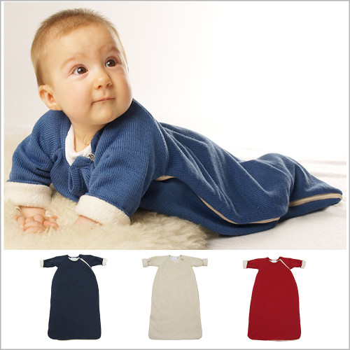 Reiff - Winter  Wearable Blanket with Sleeves, Organic Merino Wool Cotton, Sizes 3M – 3T