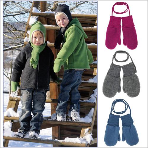 Reiff - Toddler and Kids Mittens, 100% Organic Merino Wool, 3 Months - 6 Years