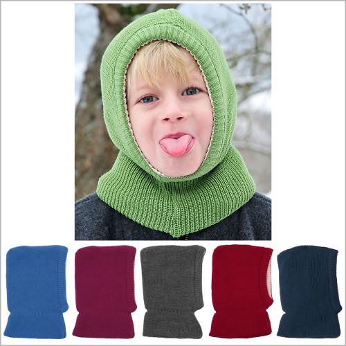 Reiff - Kids Balaclava Winter Hat, 100% Merino Wool, 1–10 years