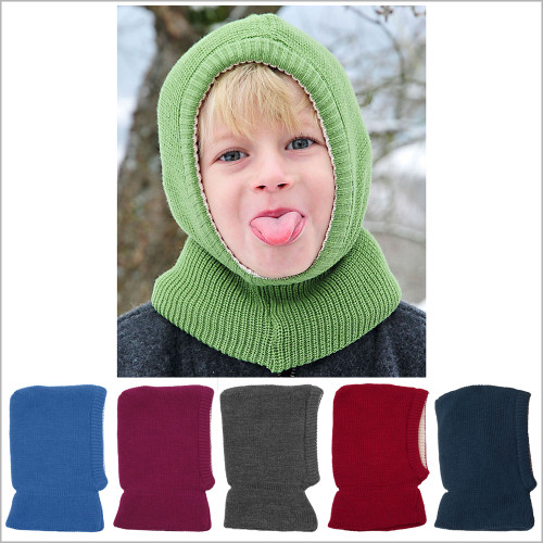 Reiff - Kids Balaclava Winter Hat, 100% Merino Wool, 1–10 years
