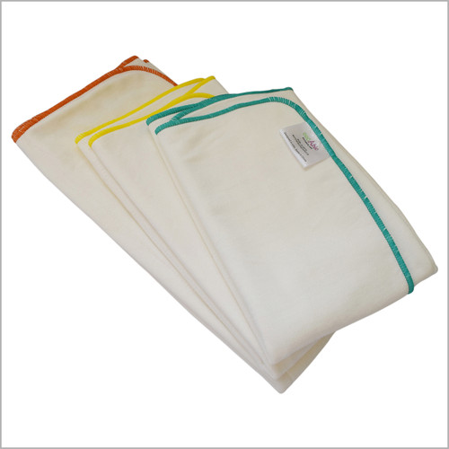 EcoAble - Bamboo Cotton Prefold Insert for Cloth Diapers (Big Kid, Teen and Adult Sizes)