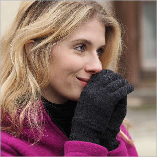 REIFF - Warm Gloves for Men and Women, 100% Organic Merino Wool