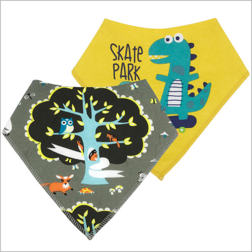 EcoAble - Baby Bandana Drooling and Teething Bibs (4-pack)