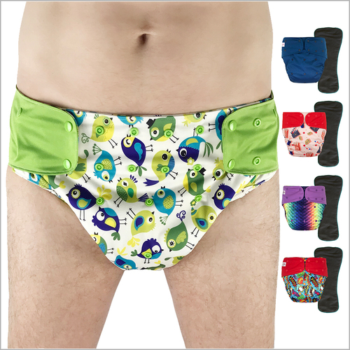 EcoAble - Cloth Diaper Cover with Insert for Big Kids, Teens and Adults