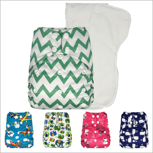 THX - One Size Pocket Cloth Diaper with 2 Microfiber Inserts