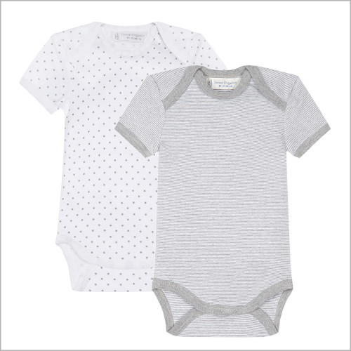 Sense Organics - Unisex Baby Onesie Bodysuit with Short Sleeves, 100% Organic Cotton