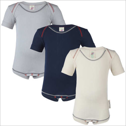 Engel - Essential Baby Onesie Bodysuit with Short Sleeves, 100% Organic Cotton