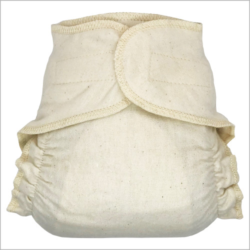 DISANA - Hook-&-loop Cotton Fitted Cloth Diapers for Baby and Toddler
